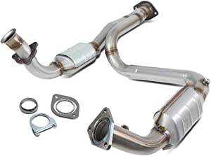 OE Style Catalytic Converter Exhaust Y-Pipe Replaces for Avalanche Silverado Sierra Yukon 4.3L 4.8L 5.3L 99-06