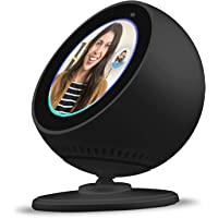 BLUERIN Echo Show 5 spot Stand, Adjust echo's face up and Down Multi Viewing Angle Adjustment 360 Rotation Bracket Mount with Magnetic Base for Echo Spot (Black)
