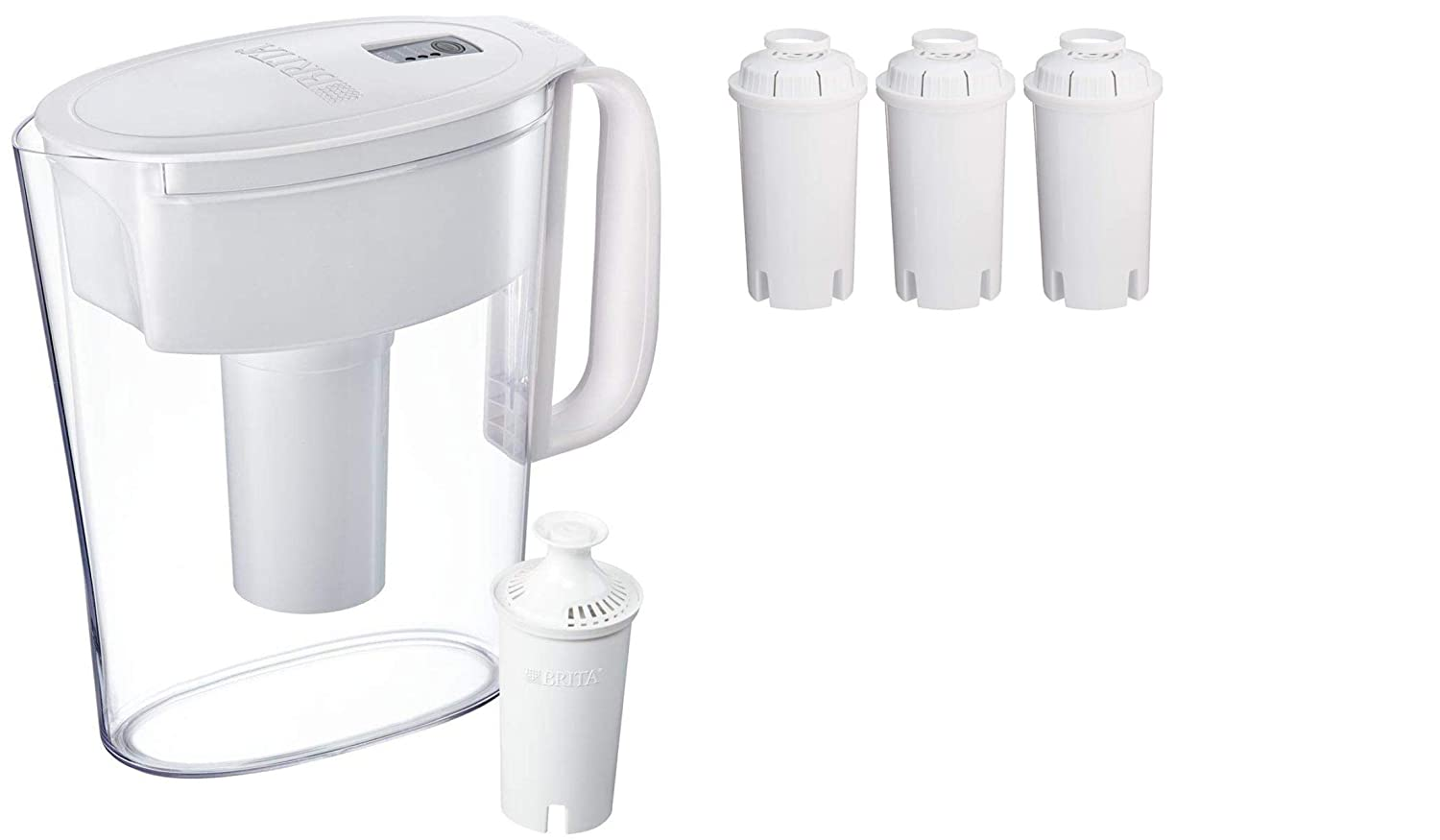 Brita 5 Cup Water Filter Pitcher (Pitcher with 4 Filters)