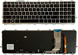 Laptop Replacement Keyboard Fit HP Envy 17-J 17-J000 17T-J100 17T-J 17T-J000 US Layout with Backlight