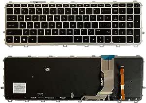 Keyboards4Laptops German Layout Silver Frame Backlit Black Windows 8 Laptop Keyboard Compatible with HP Envy 15-j022el HP Envy 15-J023CL HP Envy 15-j023ea HP Envy 15-J023SA HP Envy 15-j022TX