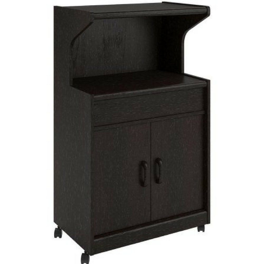 Amazon.com: Solid Wood Microwave Cabinet With Shelves (Espresso ...