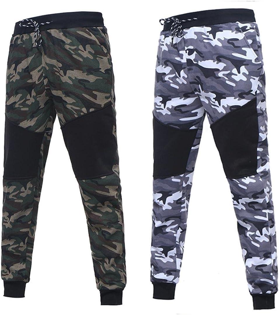 Sudadera Hombre Xinan Sudadera de Camuflaje oto/ñal de Invierno para Hombre Long Sleeve Top Pants Sets Sports Suit Imprimir ch/ándal//Pantalones