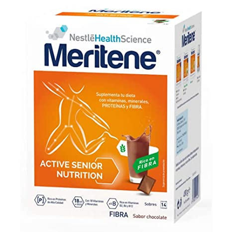 MERITENE FIBRA CHOCOLATE 14 SOBRES