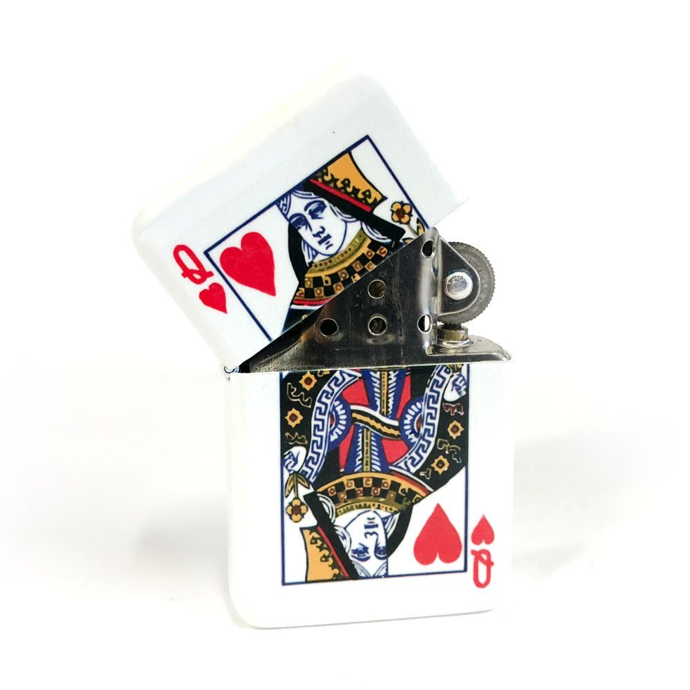 Queen of heart flip lighter