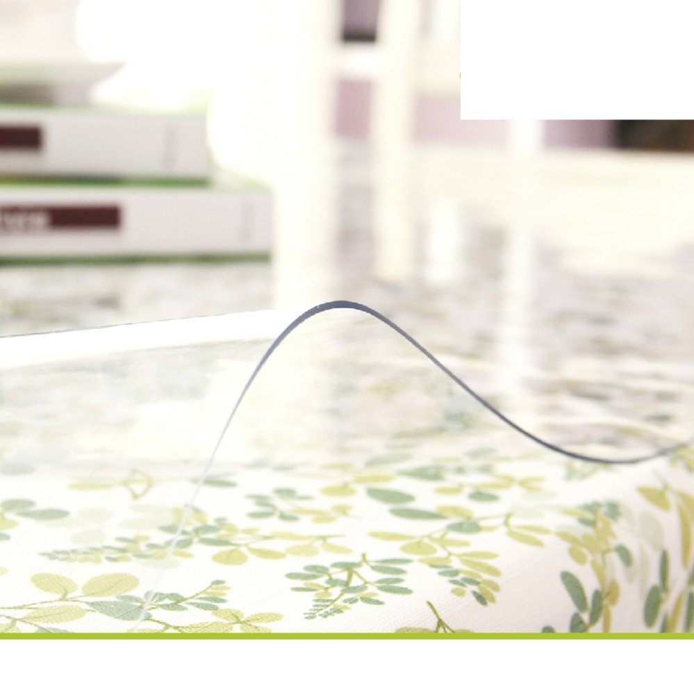 Pvc table cloth/soft glass,transparent, water table mat/ plastic tablecloths/tea table mats/ table cloth/ crystal plate mat-A 90x150cm(35x59inch)