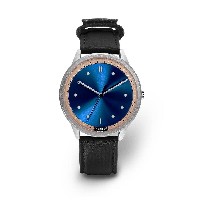 HYPERGRAND 02NATO Watch Silver Blue Bomber Black silberne Uhr mit blauem Zifferblatt
