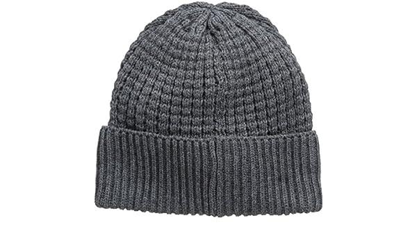 Selected Browning Hood H - Gorro de punto para hombre, color gris (medium grey mélange), talla única: Amazon.es: Ropa y accesorios