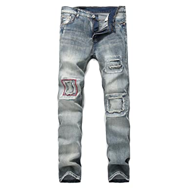 Hombre Skinny Fit Jeans, 2018 Heavy Duty Basic Pierna recta ...
