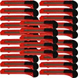 25x Bulk Red Utility Knife Box Cutters Snap Off Blade