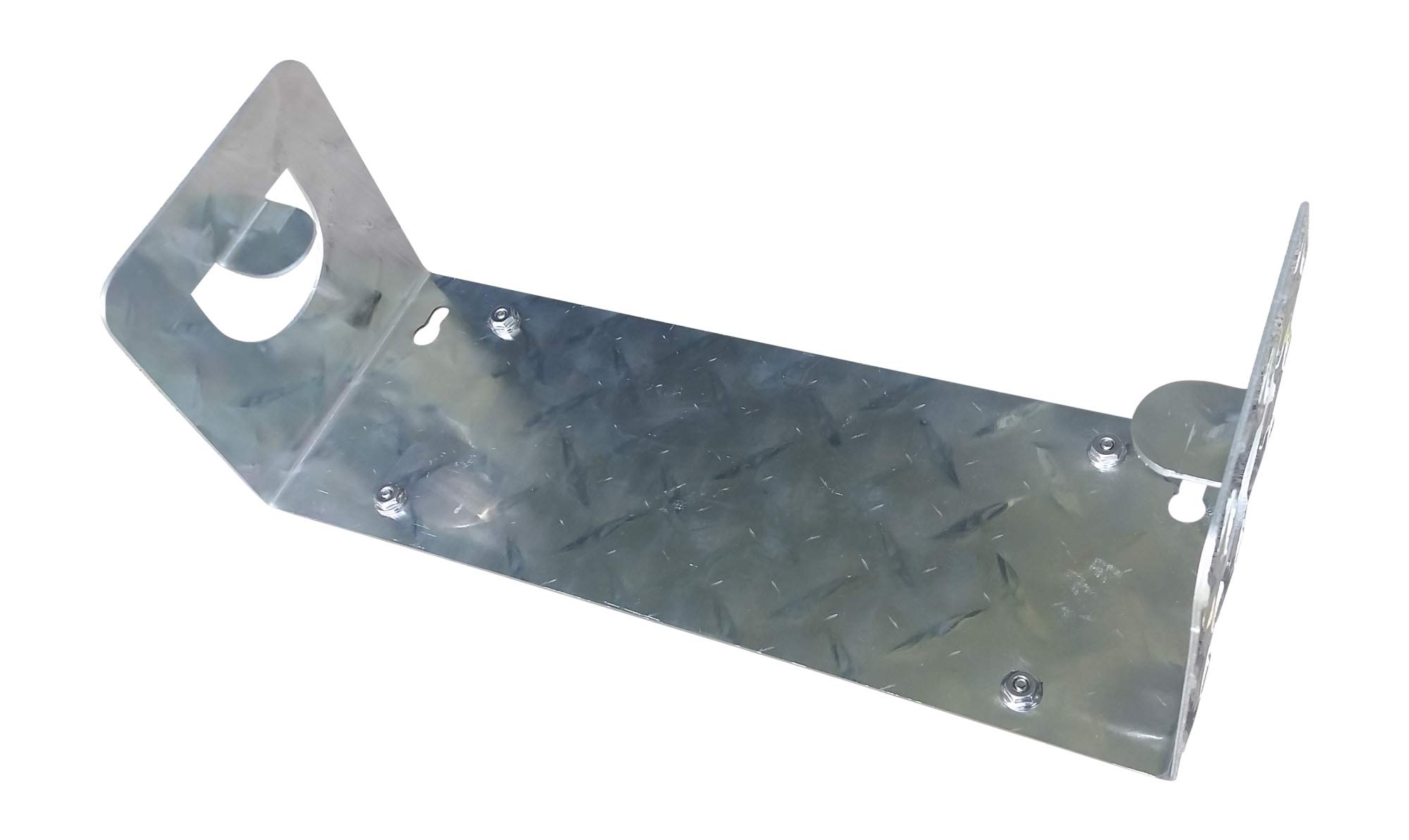 Paper Towel Holder, Diamond Plate Aluminum (No Hardware)
