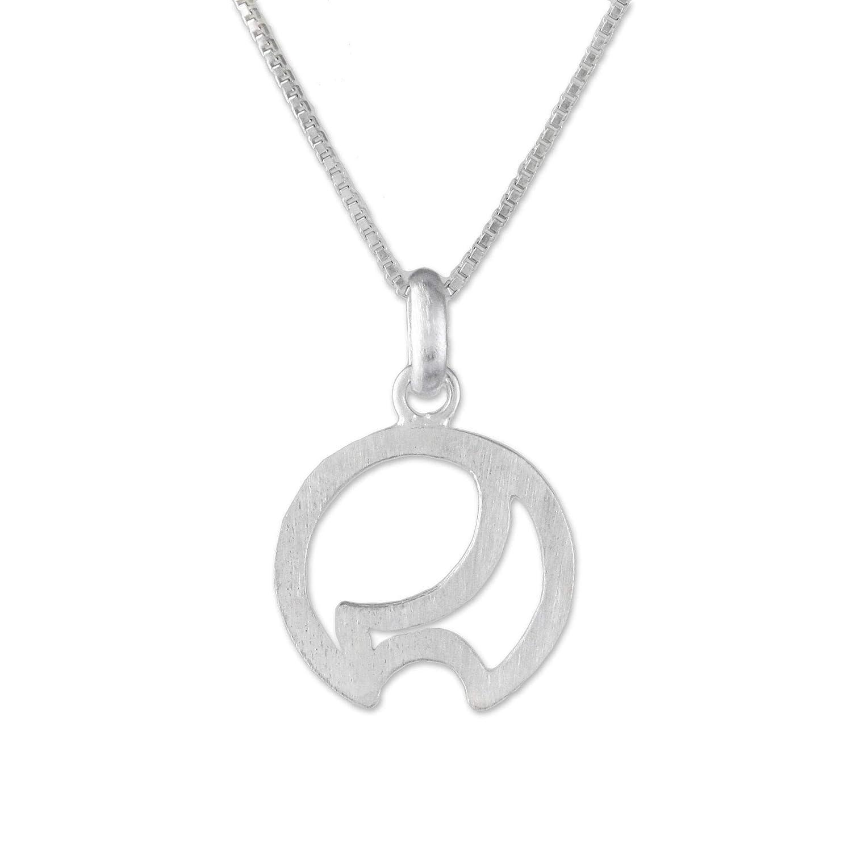 NOVICA .925 Sterling Silver Pendant Necklace 18 Cute Curves