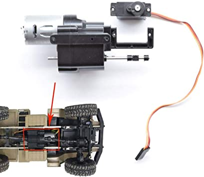 SHM-F RC Coche Caja de Engranajes,2 velocidades Caja de transmisión con 370 Motor+Servo para 1/16 WPL B14 B24 B16 B36 C14 C24: Amazon.es: Juguetes y juegos