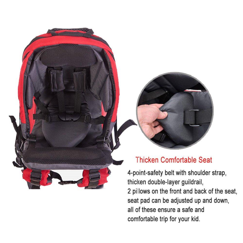 Red Protection contre le soleil Sac de transport pour enfants Sac /à dos de randonn/ée avec housse de pluie pour enfant