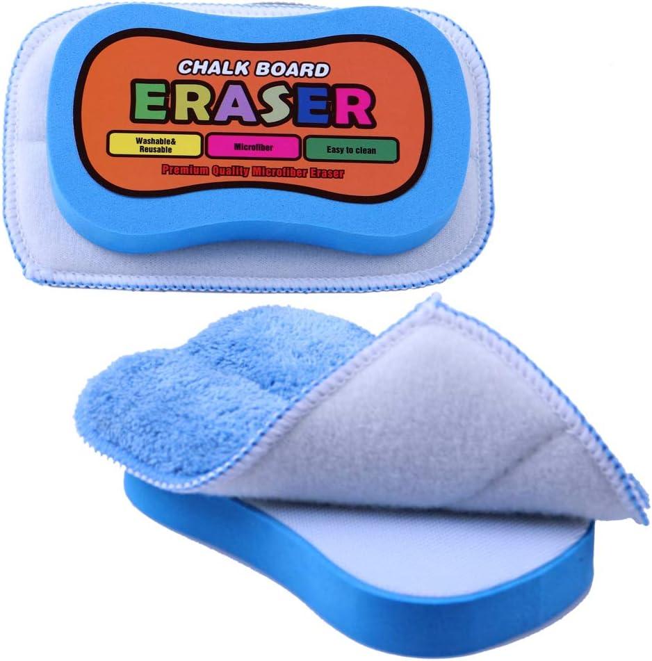 Essel (Washable & Reusable) Chalkboard Eraser - Microfiber Dustless Chalk Eraser - Multipurpose Cleaning Duster - 2-Pack