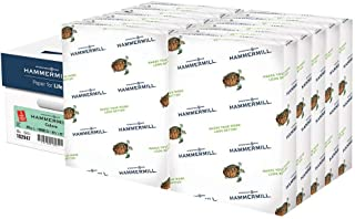 product image for Hammermill Colored Paper, 20 lb Green Printer Paper, 3 Hole - 10 Ream (5,000 Sheets) - Made in the USA, Pastel Paper