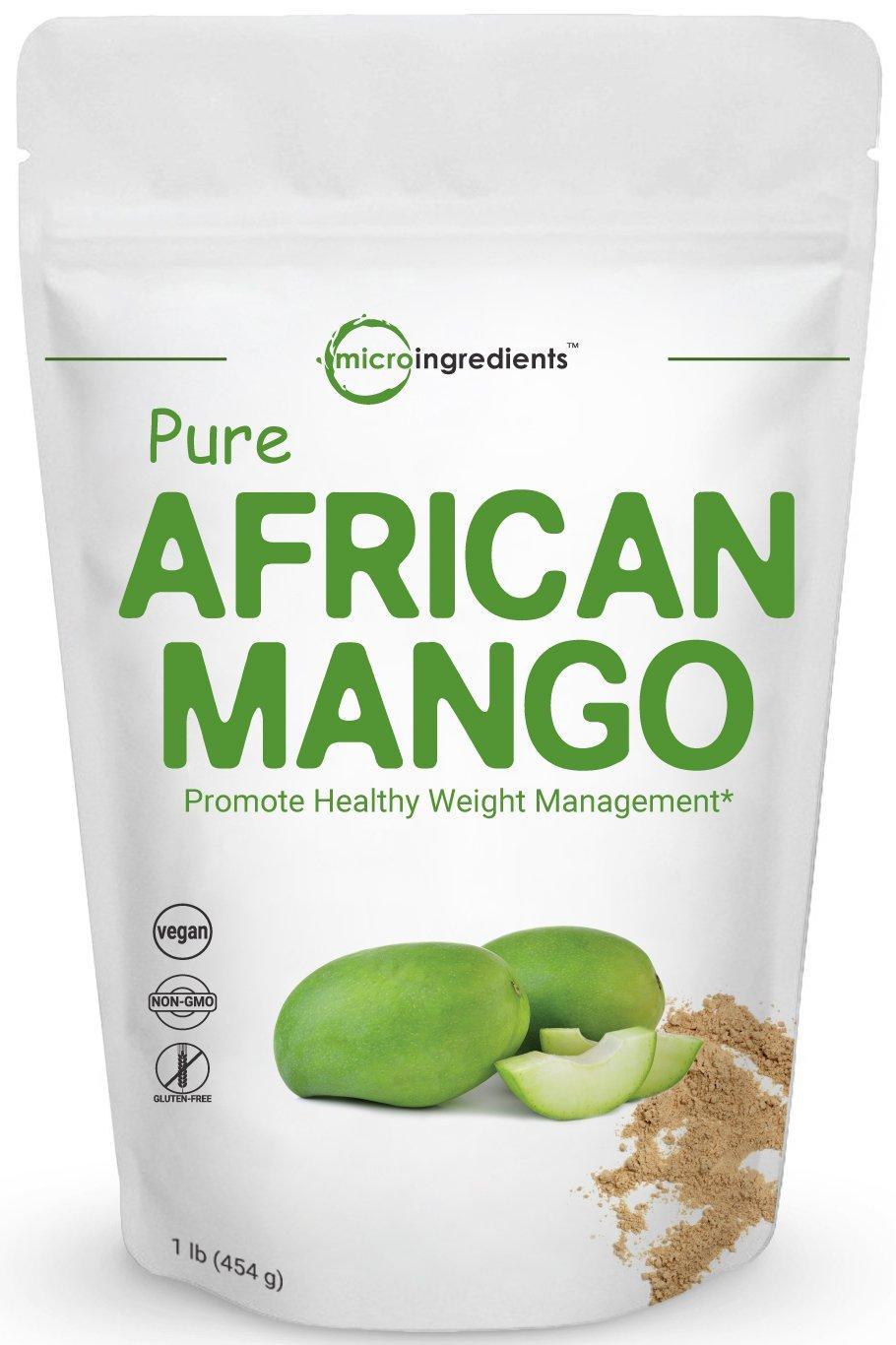 Maximum Strength Pure African Mango Extract Powder (Irvingia Gabonensis, Wild Mango), 1 Pound, Supports Metabolism and Fat Burning, Non-GMO and Vegan Friendly.