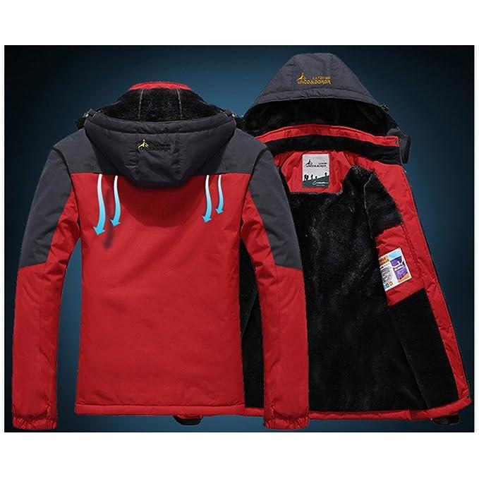 19a97c91a2c7c Panegy - Chaqueta para Mujeres para Deportes Esquí Invierno Abrigo  impermeable Chaqueta de Nieve a prueba