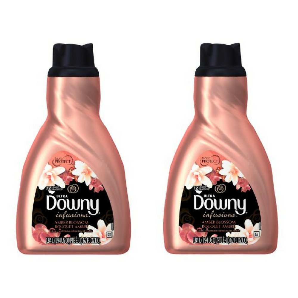 Ultra Downy Infusions Amber Blossom Liquid Fabric Softener and Conditioner 62 FL Oz - Pack of 2