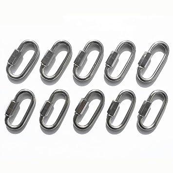 Amazon.com: 10 conectores de cadena de eslabones rápidos 316 ...