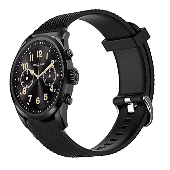 Amazon.com: Jenboo Compatible Montblanc Band 22mm Silicone ...