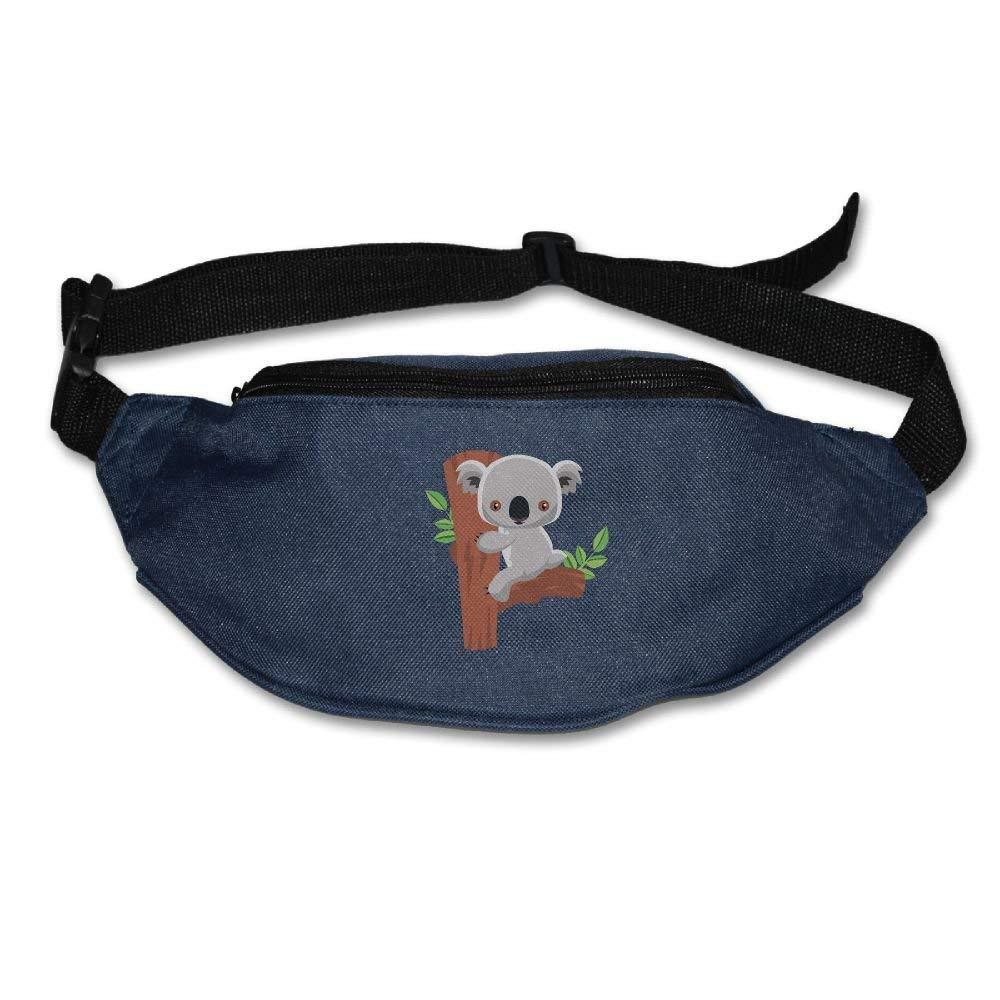 Unisex Waist Purse Lovely Cora Holds The Trees Fanny Pocket Adjustable Running Sport Waist Bags Black