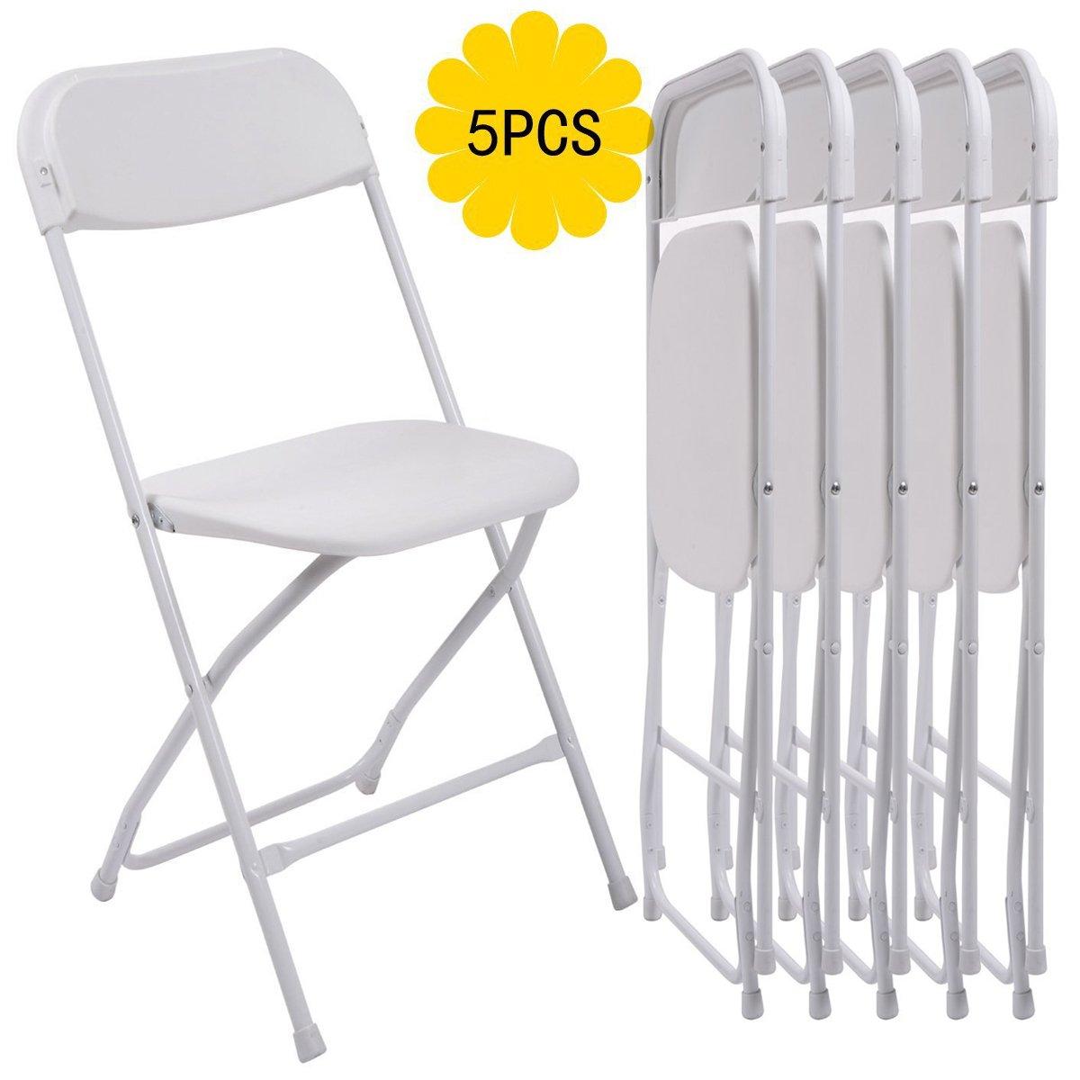 Amazon.com: bonnlo Juego de 5 sillas apilable resistente ...
