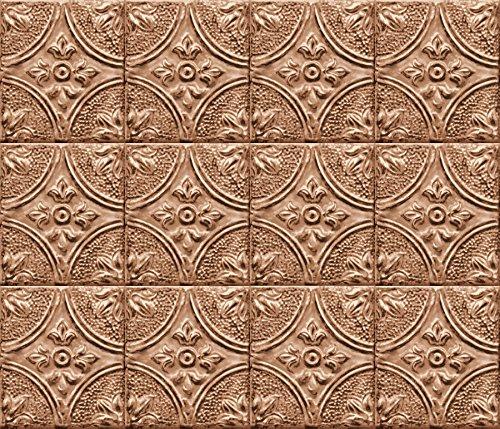 Copper Backsplash (Brewster BHF2773 Copper Tin Tile Peel & Stick Backsplash, Metallic)