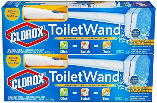 ToiletWand With Caddy (2 Pack) (Holder Clorox Toilet Wand)