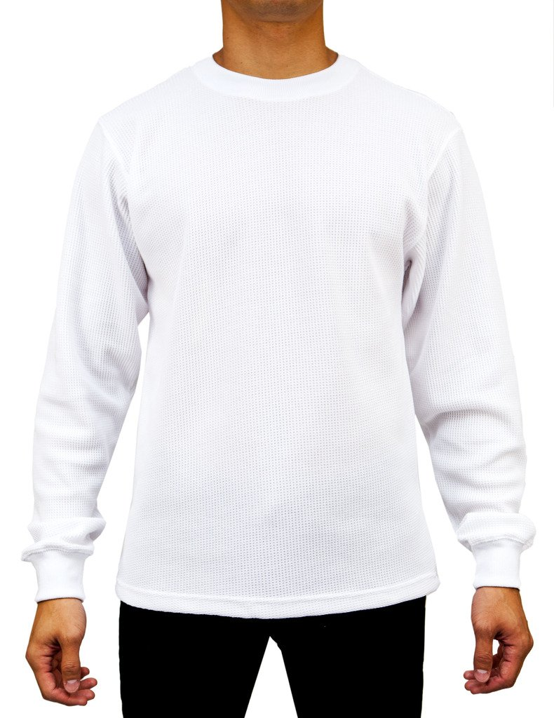 Access Men's Heavyweight Long Sleeve Thermal Crew Neck Top White Extra Large by Access