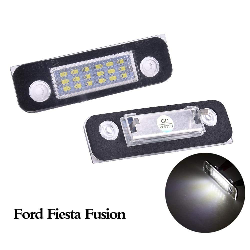 following /Éclairage de Plaque dimmatriculation /à 18 Del pour Ford Fusion Fiesta Mondeo