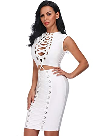 White Bodycon Club Dress