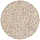 Safavieh California Shag Collection SG151-1313 Beige Round Area Rug (4'...