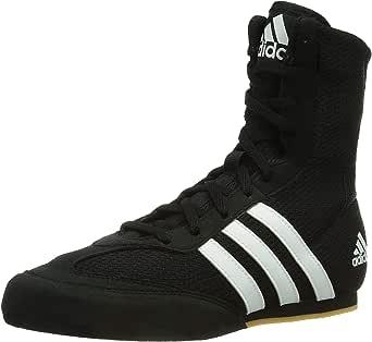 adidas Box Hog 2 Mens Boxing Trainer Shoe Boot Black/White - UK 10