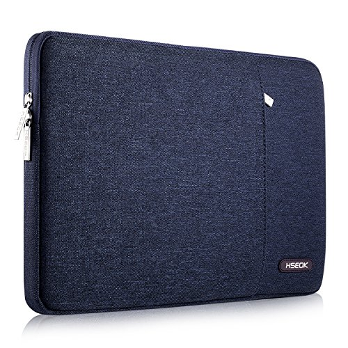 HSEOK 13-13.3 Inch Laptop Sleeve Case, Environmental-Friendly Spill-Resistant Sleeve for 13-Inch MacBook Air 2012-2017, MacBook Pro Retina 2012-2015/Pro 2012 A1278 and Most 14-Inch Laptop, Dark Blue