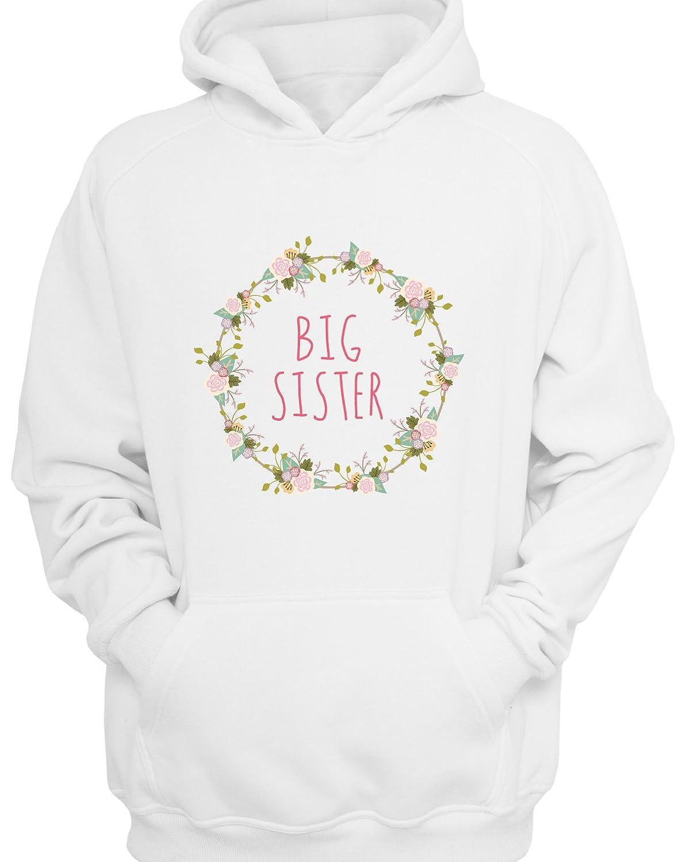 Floral Print Big Sister Children's Hoodie 13371