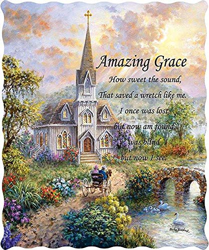 Virah Bella Amazing Grace Quilted Throw Blanket Nicky Boehme ()