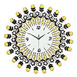 CLG-FLY Mute the European creative living room Queen size stylish wrought-iron clock