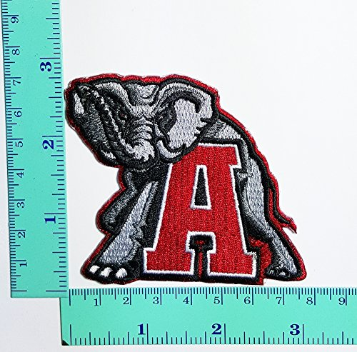 Alabama Crimson Tide Applique (Alabama Crimson Tide Team Patch Logo Sew Iron on Embroidered Appliques Badge Sign Costume)