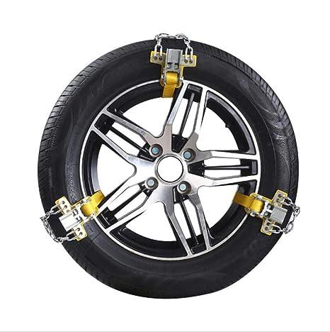 JAKROO Cadena de neumáticos, Cadena de Nieve, Cadena de Seguridad, Material de Costilla