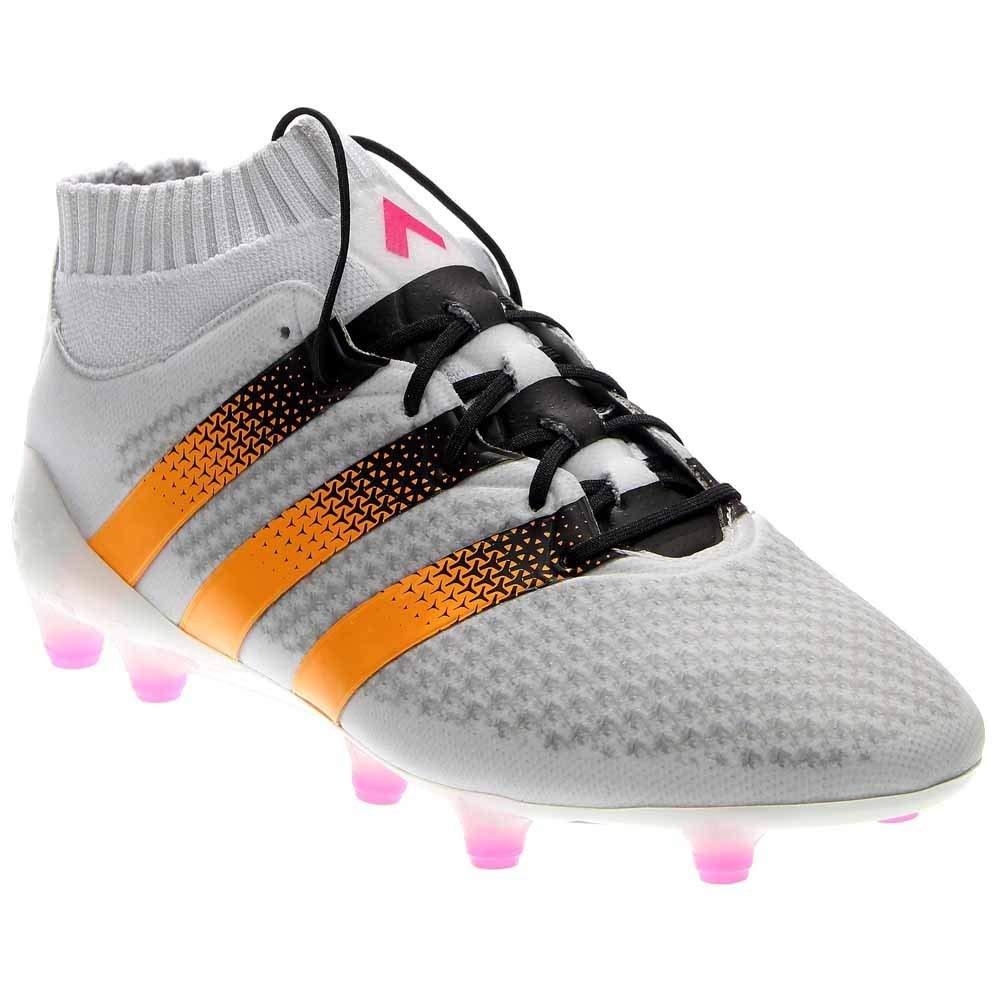 adidas Women's ACE 16.1 Primeknit FG White/Solar Gold/Shock Pink Sneaker 8 B (M)
