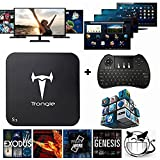 [Free Wireless Keyboard + Mouse] Trongle S1 Amlogic S805 MXQ Quad Core Tv Box Android 4.4 Kitkat H.265 Wifi LAN Miracast Airplay Hdmi 1g RAM 8g ROM