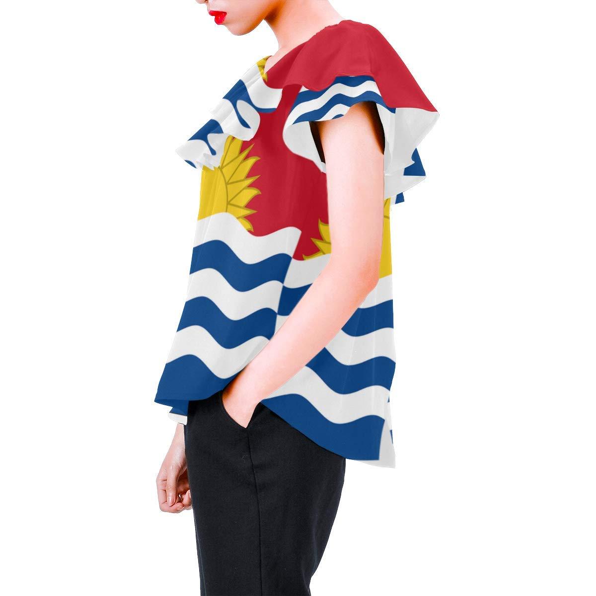 Happy Xmas Christmas Womens A-Line Chiffon Blouse Shirt Tops