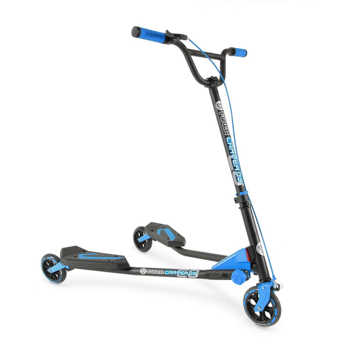 Y Fliker Scooter >> Amazon Com Yvolution Y Fliker C3 Scooter Blue One Size Flicker