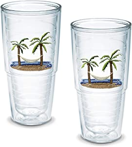 Tervis Tumbler Palm and Hammock 24-Ounce Double Wall Insulated Tumbler, Set of 2 - 1035968