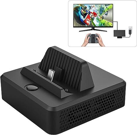 MoKo Soporte de Carga Portatil Compatible con Nintendo Switch, Adaptador de Estación de Acoplamiento USB Tipo C 3.0 y HDMI, Base Portátil de ABS para Conmutador con Refrigeración: Amazon.es: Electrónica
