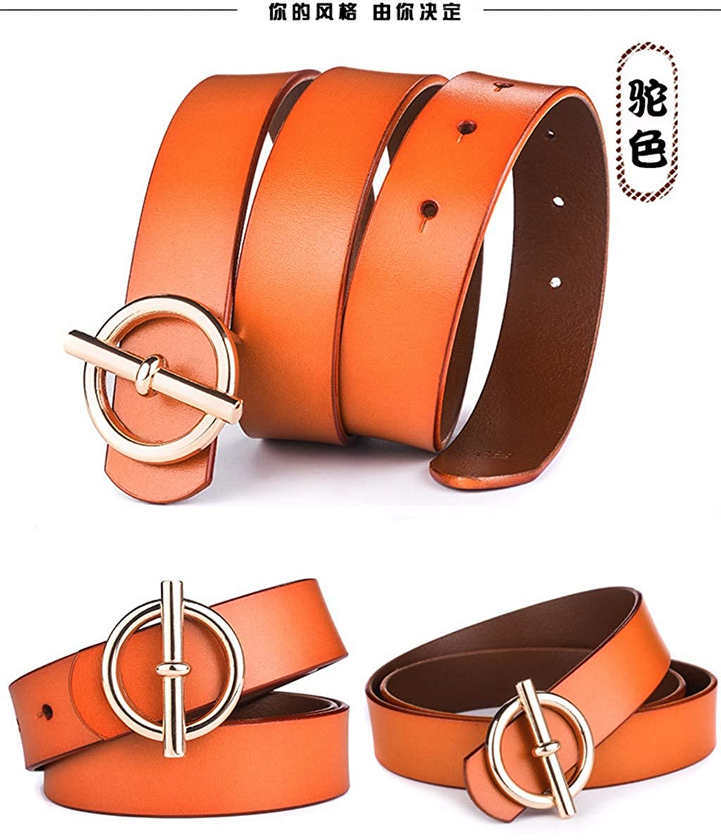 smooth leather belt. fashion Leather leather leather leather