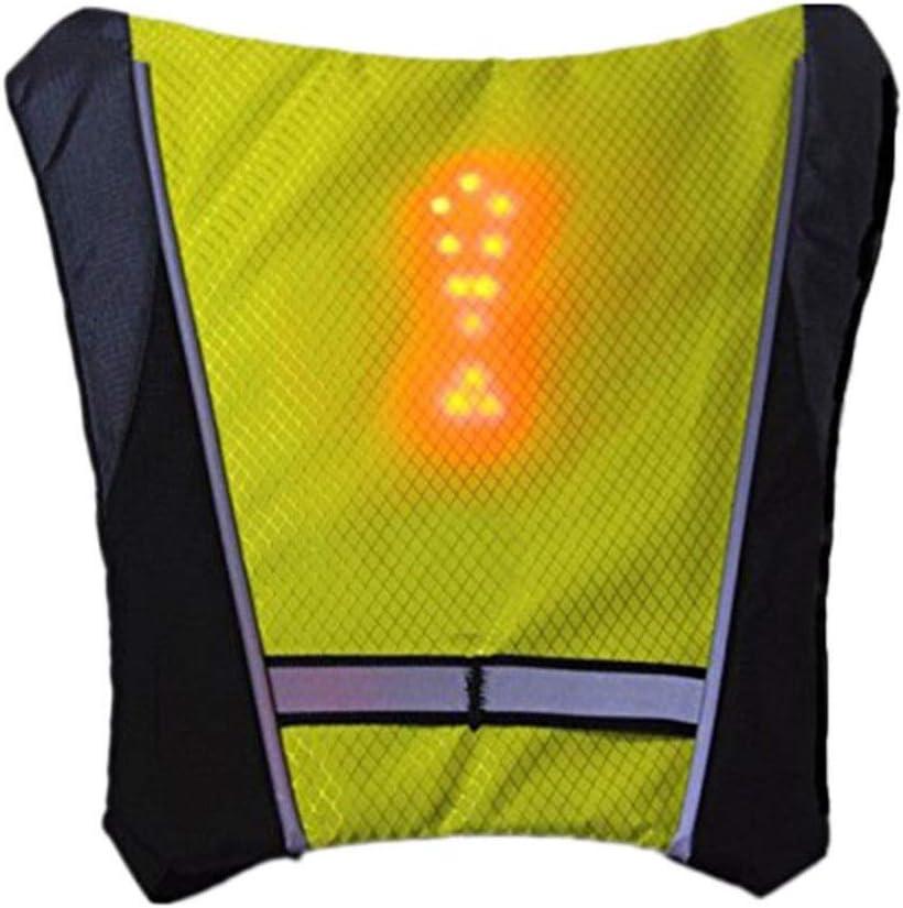 dise/ño de control remoto extra/íble port/átil Chaleco reflectante con luz de giro LED puede ser como bolsa de viaje de negocios para la escuela perfecto para ciclismo nocturno