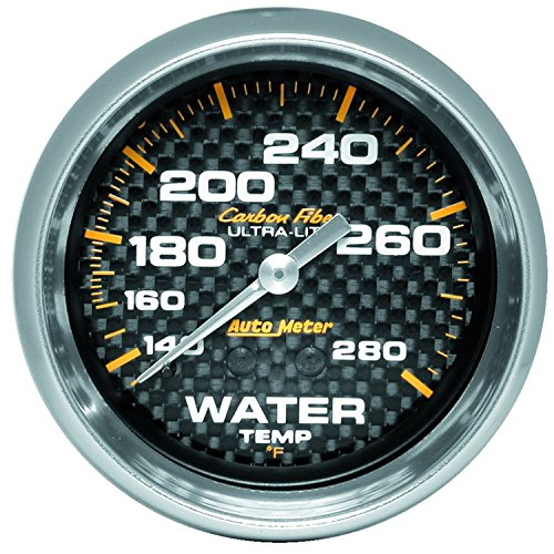 Auto Meter 4831 Carbon Fiber Mechanical Water Temperature -