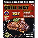 Miracle Grill Mat, One Size, Black
